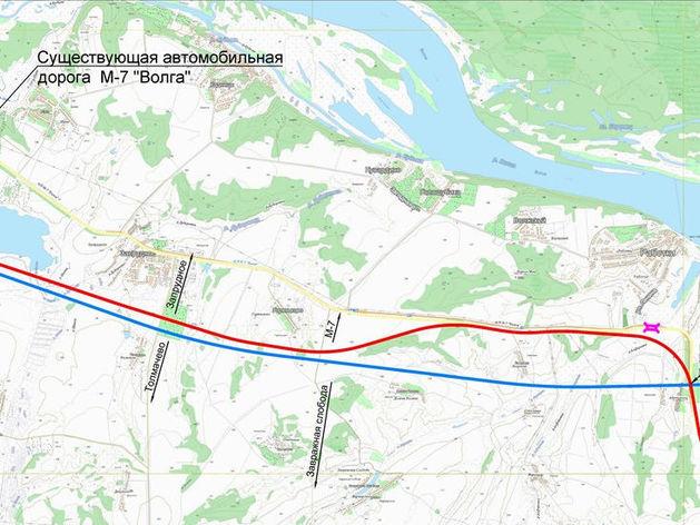Где пройдёт Южный обход Нижнего Новгорода. Примерная СХЕМА