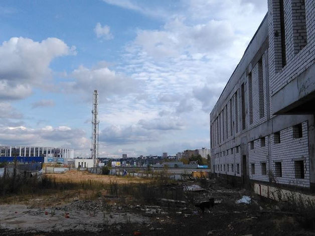 Гостиницу в районе стадиона на Стрелке в Нижнем Новгороде закроют фальш-фасадом