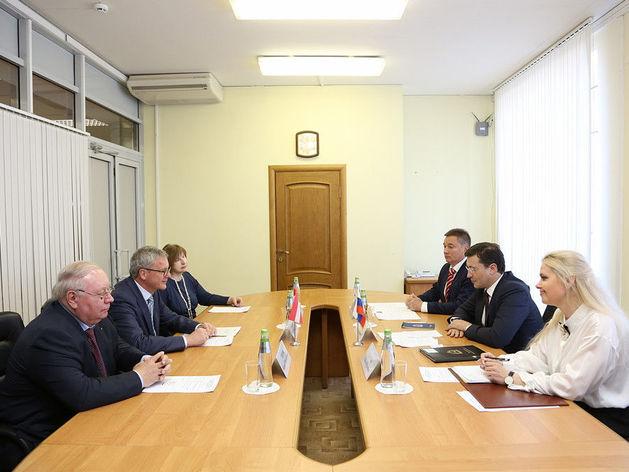 Глеб Никитин стал первым главой региона России, с которым встретился новый посол Австрии