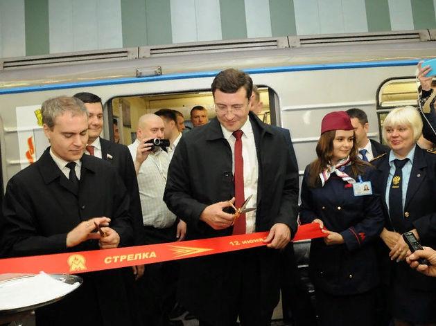 «Это огромное событие». Глеб Никитин открыл станцию метро «Стрелка». ФОТО