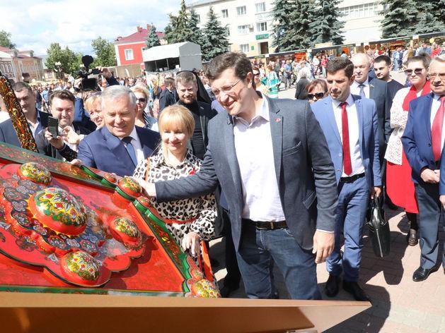 Глеб Никитин открыл фестиваль НХП «Золотая хохлома» в Семёнове