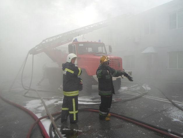 Крупный пожар на производстве. Сгорел цех площадью 350 кв. м