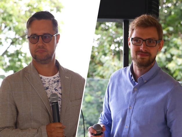 Слева - Олег Аранович, справа - Олег Елисеев