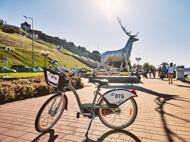 Велобайк в Нижнем Новгороде на один день увеличит время бесплатных поездок до 60 минут