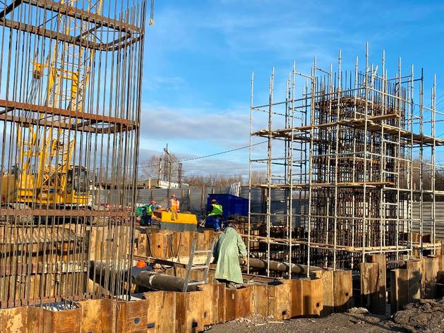 строительство развязки на Циолковского