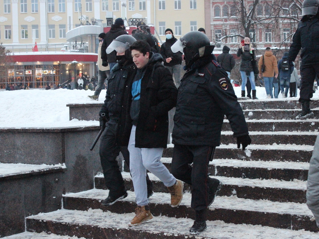 Задержание на акции 23 января