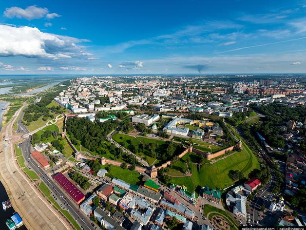 Нижний Новгород с высоты птичьего полета